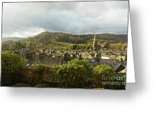 Ambleside Rooftops In The Lake District National Park Greeting Card