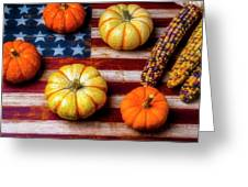 American Autumn Harvest Greeting Card