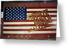 American Coyote Ugly Greeting Card