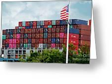 American Georgia Shipping Trade Greeting Card
