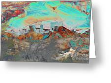 American Indian Home In Abstract Greeting Card