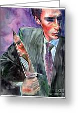 American Psycho Painting Greeting Card