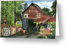 Amish Quilts Greeting Card