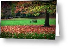 An Autumn Bench At Clyne Gardens Greeting Card