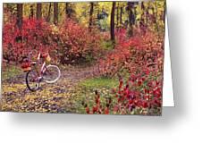 An Autumn Bike Trek Greeting Card