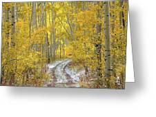 An Autumn Path Greeting Card