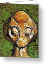 Ancient Alien Greeting Card