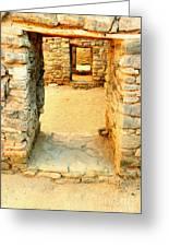 Ancient Windows Aztec Ruins Greeting Card