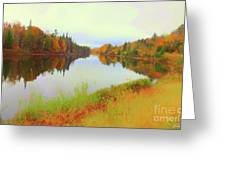 Androscoggin River, 13 Mile Woods Greeting Card