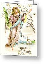 Angel  Carrying A Palm Branch Greeting Card