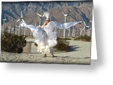 Angel Swirling In The Desert Greeting Card