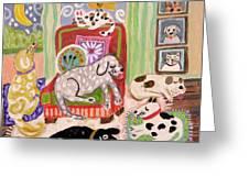 Animal Family 1 Greeting Card
