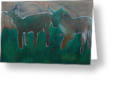 Animals In A Field Greeting Card