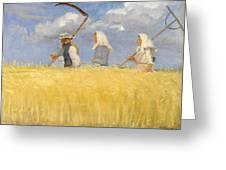 Anna Ancher - Harvesters Greeting Card