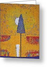 Another Day At The Office Original Painting Greeting Card