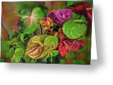 Anthurium Riot Greeting Card