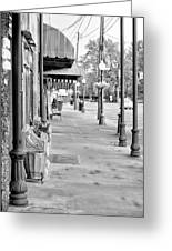 Antique Alley In Black And White Greeting Card