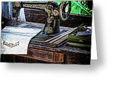 Antique Sewing Machine Greeting Card