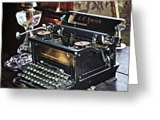 Antique Typewriter 2 Greeting Card