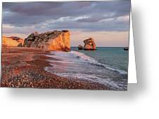Aphrodite's Birthplace Or Petra Tou Romiou In Cyprus 2 Greeting Card
