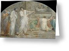 Apparition Of Saint Didacus Above His Sepulchre  Greeting Card