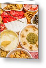 Appetizers Delight Greeting Card