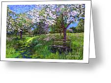 Apple Blossom Trees Greeting Card