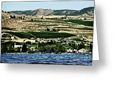 Apple Farming On The Hills Of Wenatchee Greeting Card