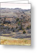 April Badlands Near Amidon Greeting Card