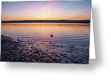 April Dawn On The Hudson River II Greeting Card