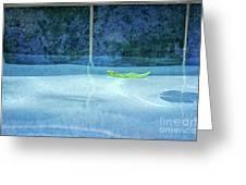 Aqua Agua And Leaf Greeting Card