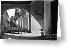 Arch And Shawdow Greeting Card