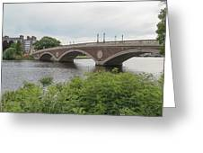 Arch Bridge Over River, Cambridge Greeting Card