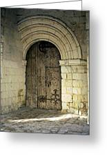 arched door at Fontevraud church Greeting Card