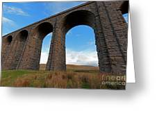 Arches And Piers Of The Ribblehead Viaduct North Yorkshire Greeting Card