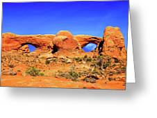 Arches Moon Eye Greeting Card by Greg Norrell