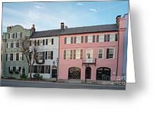 Architectural Photograph Of Rainbow Row On East Bay Street - Charleston South Carolina Greeting Card