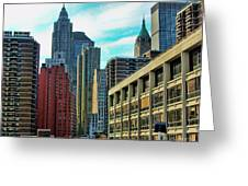 Architecture Nyc From Brooklyn Bridge  Greeting Card