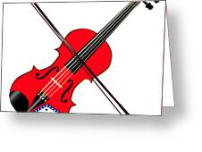 Arkansas State Fiddle Greeting Card