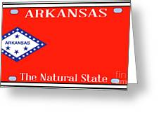 Arkansas State License Plate Greeting Card
