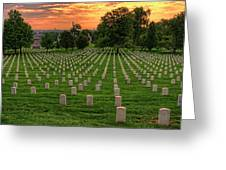 Arlington National Cemetery Sunrise Greeting Card