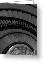 Arlington Stairs Layers Grayscale Greeting Card