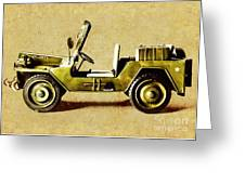 Army Jeep Greeting Card
