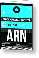 Arn Stockholm Luggage Tag II Greeting Card