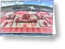 Arsenal Fc Stadium London Greeting Card
