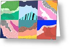 Artistic Background.modern Graphic Greeting Card
