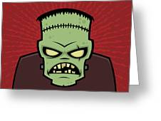 Frankenstein Monster Greeting Card by John Schwegel