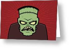 Frankenstein Monster Greeting Card