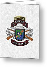 75th Ranger Regiment - Army Rangers Special Edition Over White Leather Greeting Card