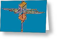 The Abstract Cross Greeting Card